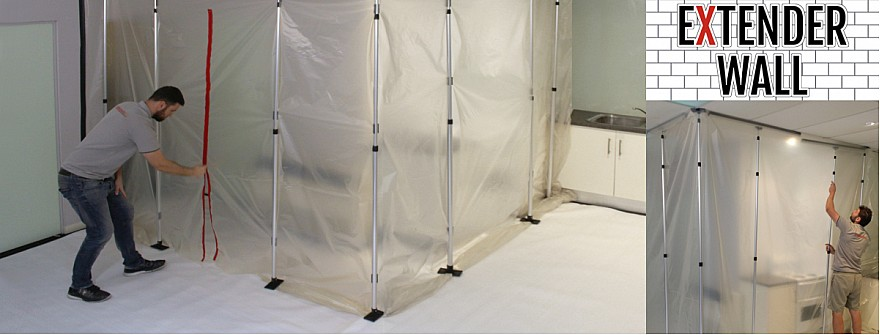 Extender Wall zip wall extension pole dust containment